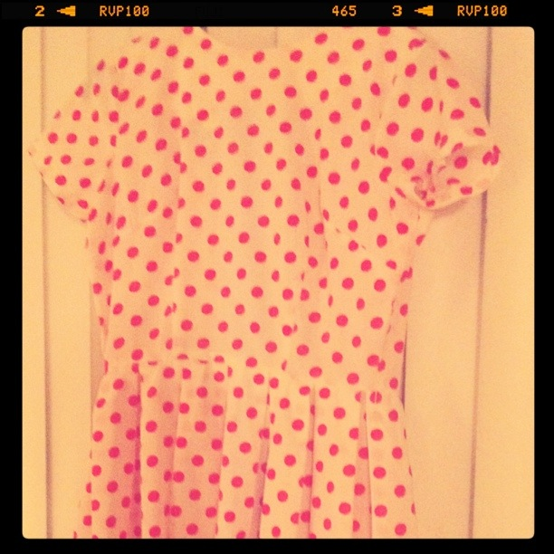 hot pink polka dots from Hunt & Gather