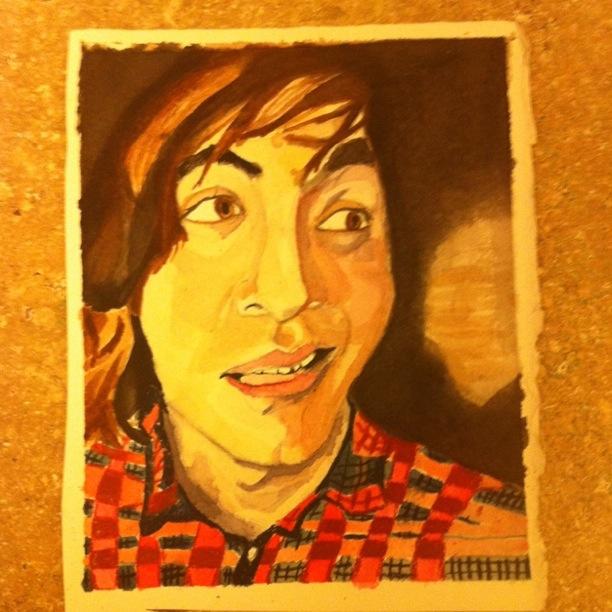 justin hannam watercolor portrait