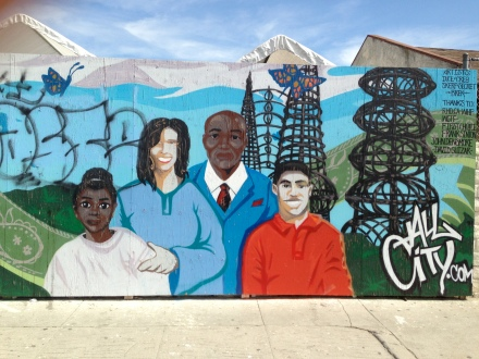 watts towers mural